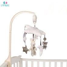 Детская кровать для новорожденных, колокольчик, плюшевый кролик, музыка, успокаивающие игрушки, детская карета и колокол, украшение детской спальни, Детский комплект постельного белья унисекс