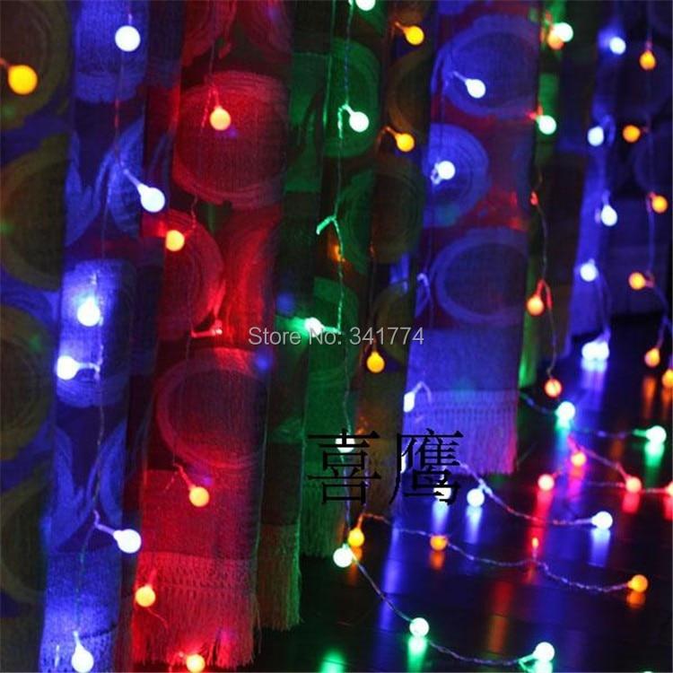 ᑎ‰3*3 M LED cereza bola luces Navidad Garland cortina Fondos ...