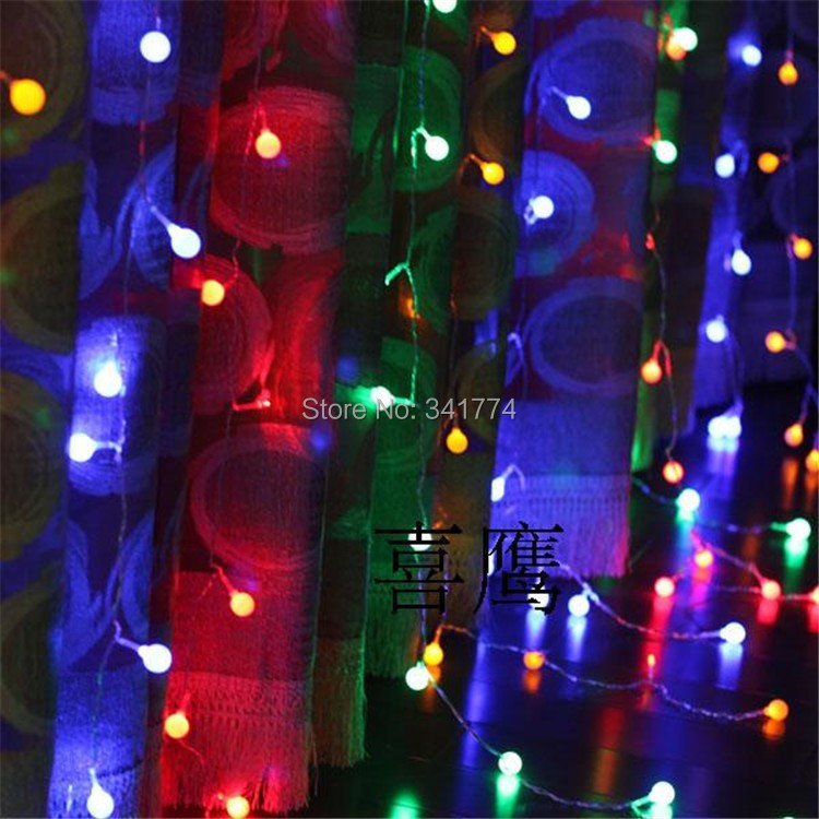 где купить 3*3m LED Cherry Ball String Lights Christmas Garland Curtain Background Holiday Lighting For Home Garden Holiday Outdoor Decor дешево