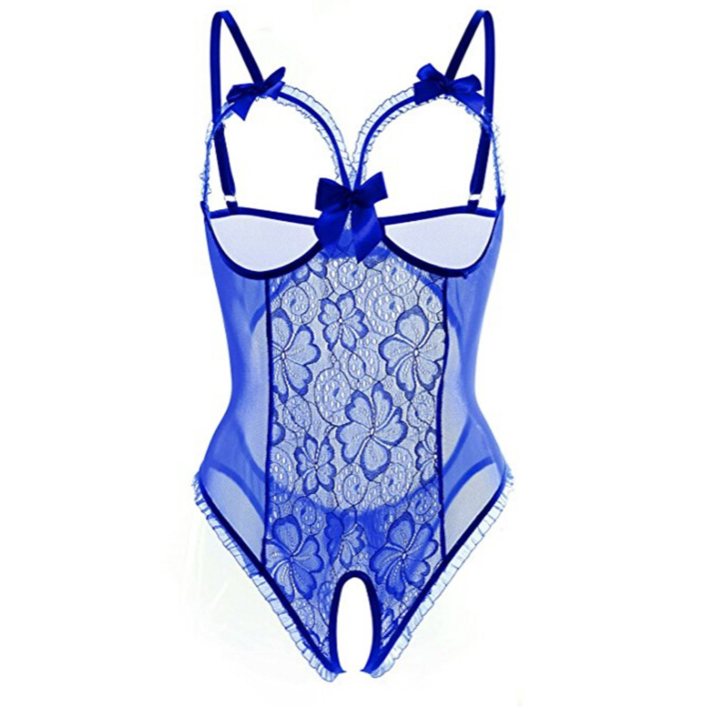 HTB1Lz4PS3HqK1RjSZJnq6zNLpXav - Plus Size Open Bra Open Crotch Women Lace Sexy Lingerie Hot Transparent Babydoll Dress Erotic Costumes