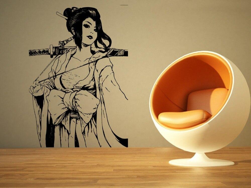 Wall Room Decor Art Vinyl Sticker Mural Decal Pin Up Geisha Assassin ...