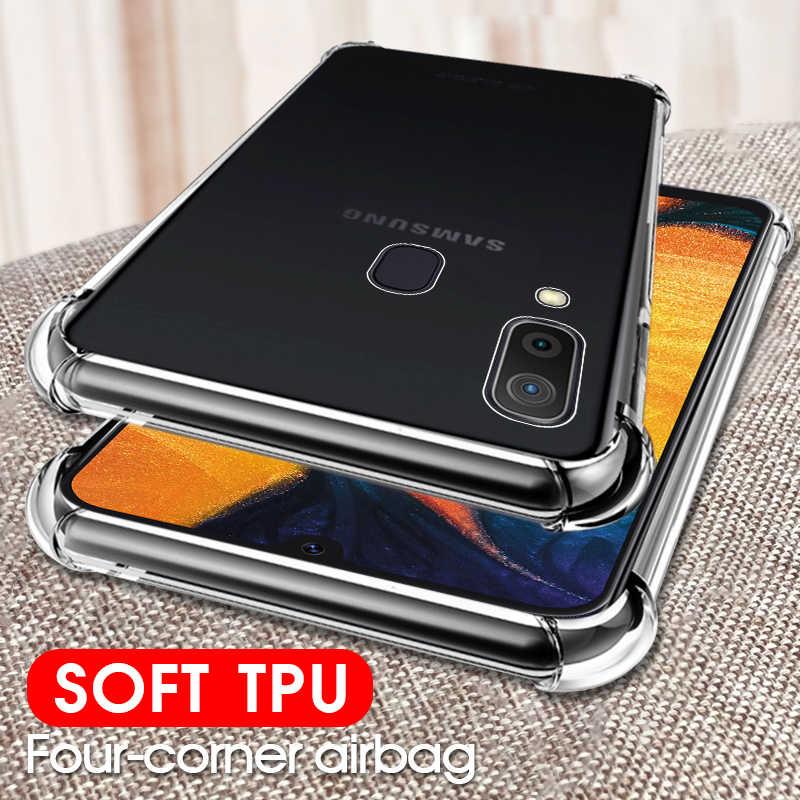 Soft Clear Case For Samsung Galaxy A70 A50 A40 A30 A20 A10 A2 Core A20e M30 M20 M10 Cover Case For Samsung Galaxy S10 Plus S10e