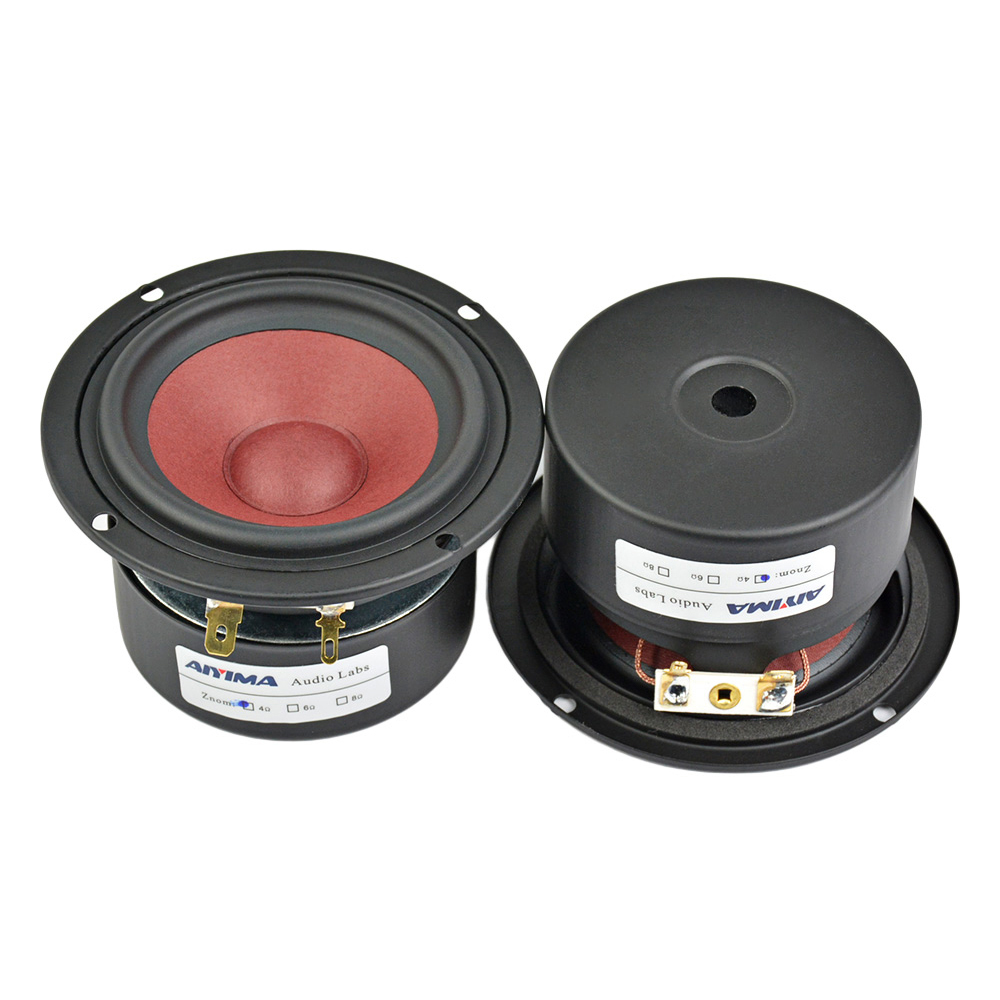 Aiyima 2PC 3Inch 20W Full Range Mini Audio Speaker 4Ohm/ 8Ohm HiFi Loudspeaker For TV Computer Desktop Bluetooth Audio DIY цена