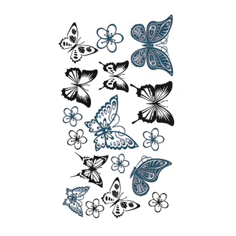 2017NEW Diseño Caliente Etiqueta Engomada Del Tatuaje Arte Corporal Tatuaje Temp