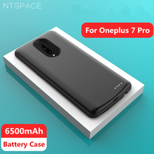 NTSPACE External Battery Charger Cases For Oneplus 7 Pro Case 6500mAh Portable Power Bank Shockproof Charging Back Cover