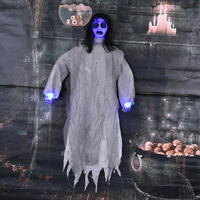 Halloween Props Bar Haunted House Frighten Died People Decoration Charm Hanging Witch Horror Voice Big Hanging Ghost Horrifying
