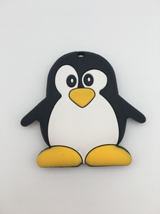 Image 5 - Silicone Penguin/panda Pacifier Clips Chain Holder Baby Chew Bead Leash with enviromental plastic Handmade Soother nipple strap
