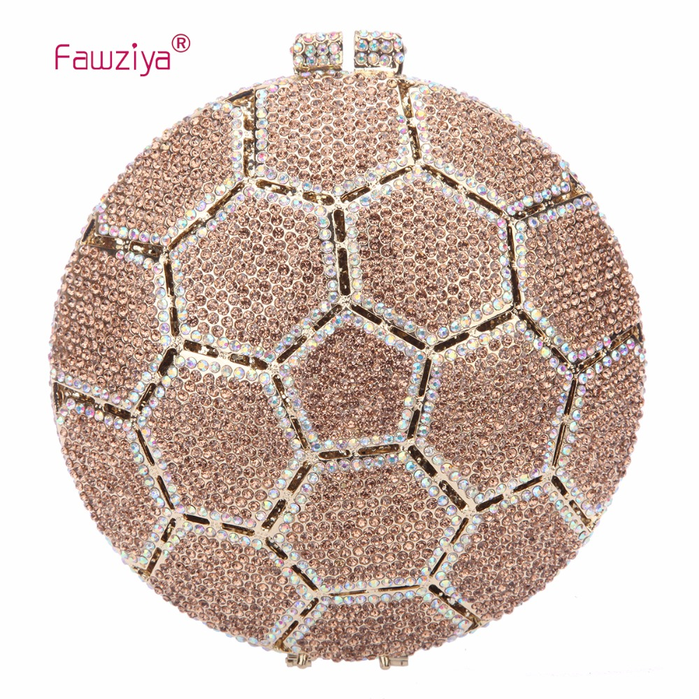 Fawziya Brand Name Ladies Bags Ball Crystal Clutch Purses Handbags For Women Bags цены