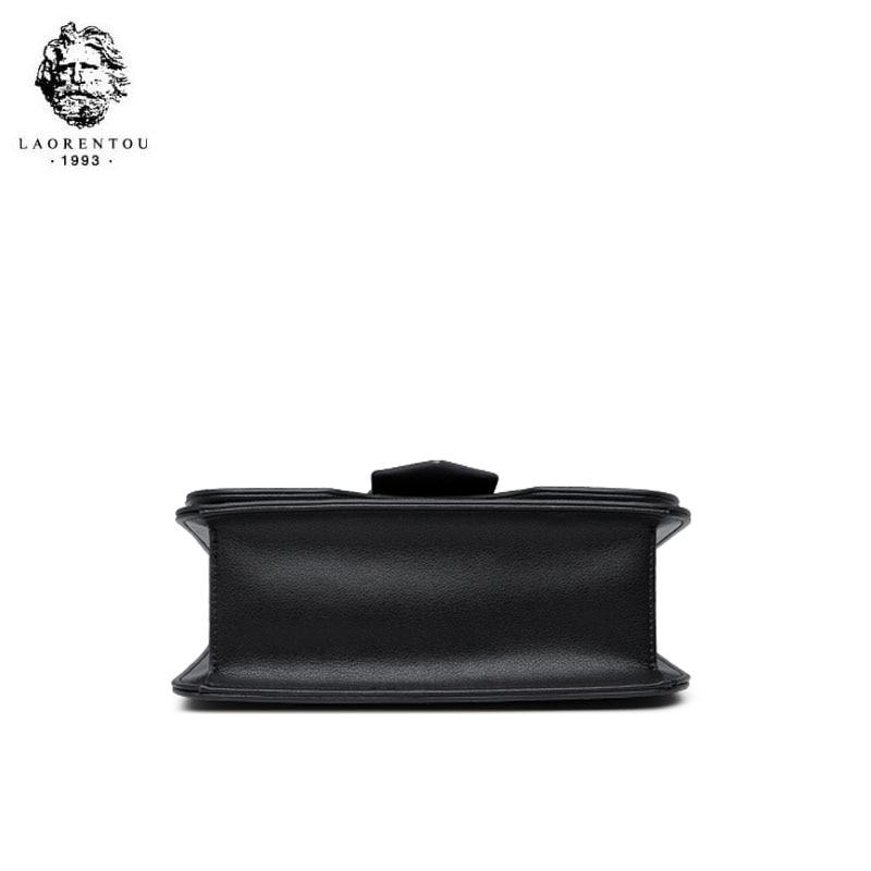 LAORENTOU bolso de marca de lujo de alta calidad 2019 nuevo bolso de hombro de moda casual salvaje portátil bolso de mensajero de cuero - 5