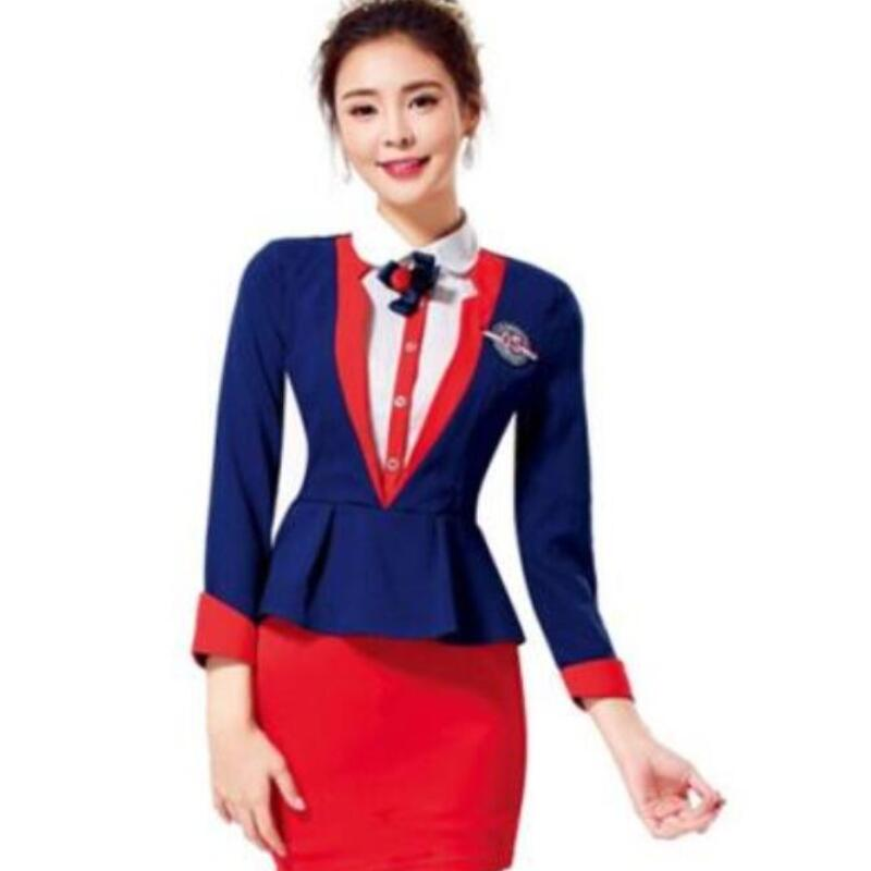 Fress shipping plus size airline hostess ladies uniform for Spa uniform policy