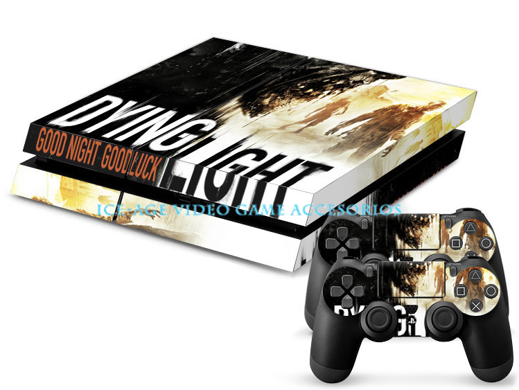 3 styles Hot Game Dying Light Decal Skin For PS4 Console
