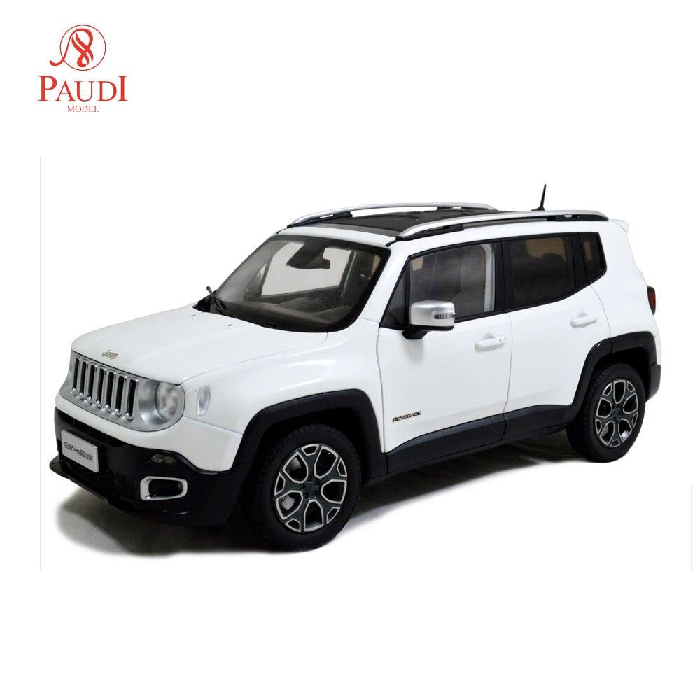 Paudi Model1/18 1:18 Scale Jeep Renegade 2016 White Diecast Model Car Toy Model Car Doors OpenPaudi Model1/18 1:18 Scale Jeep Renegade 2016 White Diecast Model Car Toy Model Car Doors Open