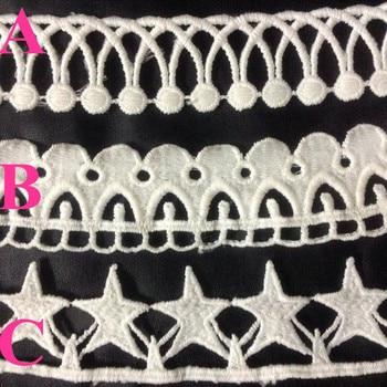 2.8-3.5cm exquisite milk fibre polyester embroidery lace trim,JC180902A