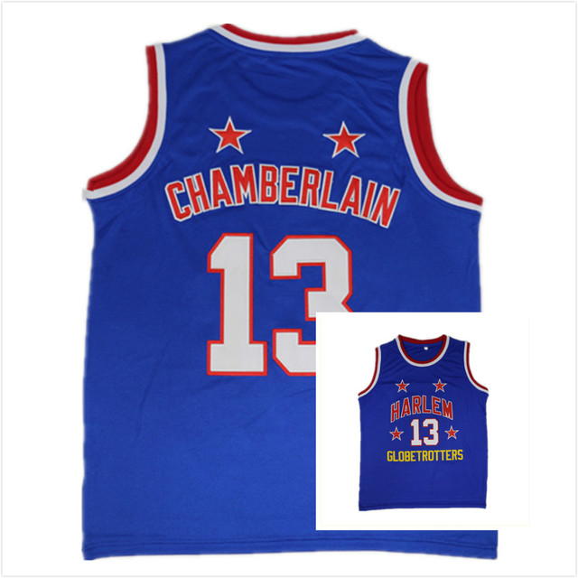 cb9f3c31f Retro Mens  13 Wilt Chamberlain Harlem Globetrotters Vintage Throwback  Basketball Jersey MAN Basket Uniforms Stitched Shirts