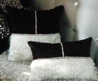 #508 Nuovo arrivato cintura patchwork peluche & cuscino di velluto di lusso del diamante copre nessun riempimento divano camera ornamento casa Dicembre commercio all'ingrosso