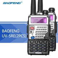 2PCS Baofeng UV 5RE Walkie Talkie Dual Band Baofeng Uv 5r Updated Version CB Radio 5W