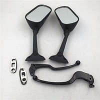 Aftermarket free shipping motorcycle accessories Handle Lever Replacement Mirrors for Suzuki 2004 2005 GSXR 600 750 Black