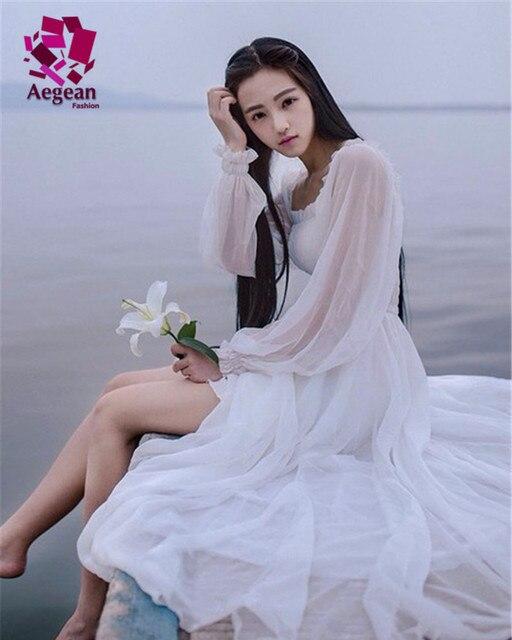 White Flowing Summer Dress
