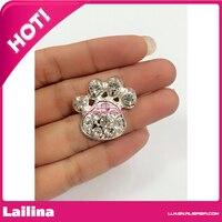 Metal rhinestone button for garments