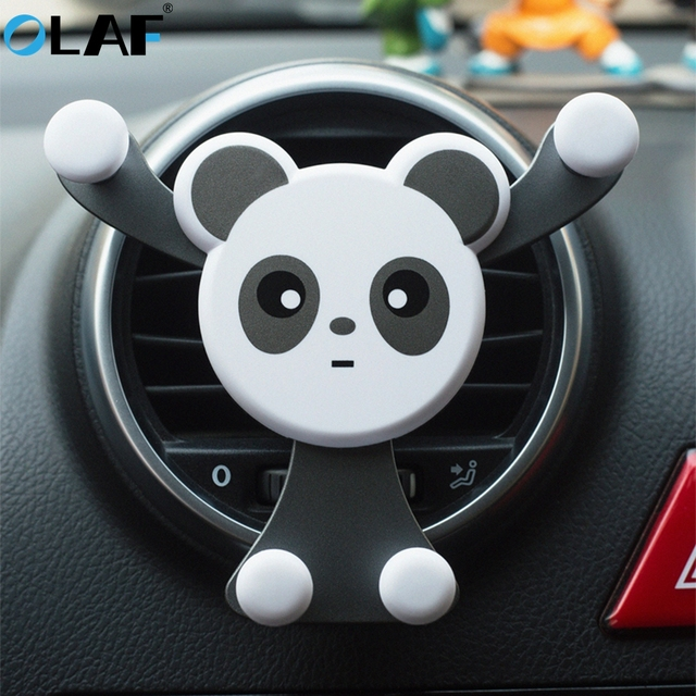 Olaf car holder smartphone mobile phone stand Smiley face Bear Universal Air Vent Gravity Sensor car phone holder for Samsung S8