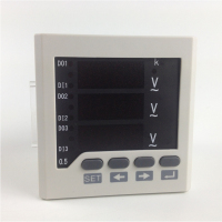 Free shipping ! 3 phase Panel mounting AC Voltage meter ,0 450V ,220V power supply V meter , Digital LED display V meters