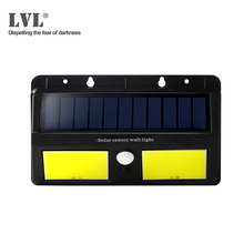 LED Garden Solar Lights IP65 Waterproof Outdoor Wall Light Wide Angle Motion Sensor For Yard Street Lamp