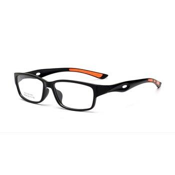 Nueva montura transparente de anteojos TR90 para hombre y mujer, monturas antideslizantes para gafas deportivas, marco de anteojos para estudiantes, miopía, 5 colores D5
