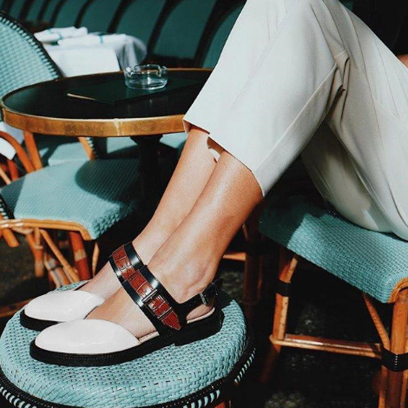 2019 Women Sandals Fashion Low Heels Sandals For Summer Shoes Woman Casual Block Heel Zapatos Mujer Plus Size 43 Sandale Femme