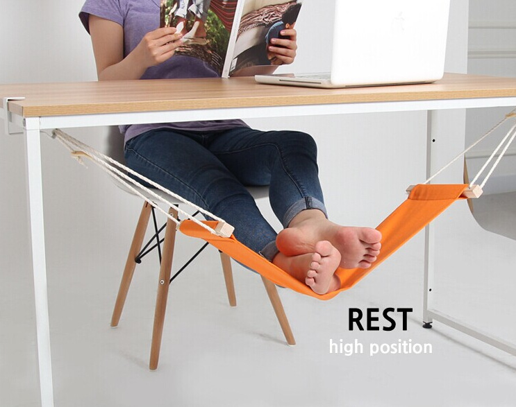 20PCS Mini Foot Rest Stand Desk Feet Hammock Easy to Disassemble Home Study Library Comfortable Indoor 60 16cm office foot rest stand desk feet hammock easy to disassemble study indoor orange