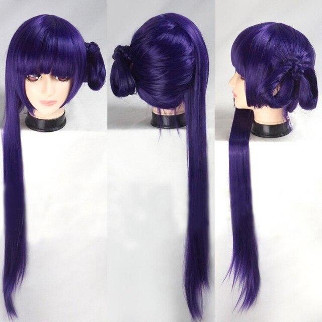 High Quality Anime No Game No Life Kurami Zell Cosplay Wig  New Fashion Women / Girl's 100CM Long Purple Styled  Hair