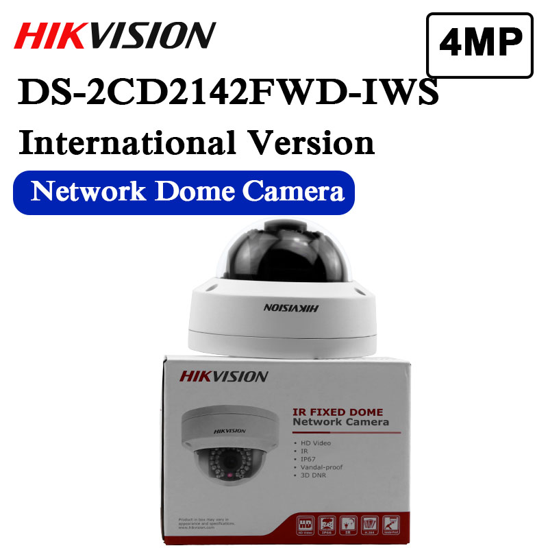 New Arrival Hikvision English Version DS-2CD2142FWD-IWS 4MP WDR Fixed Dome With Wifi Network Camera