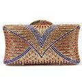 2015 high quality luxury fashion hollow diamond colorful striped mini clutch evening bag ladies handbag shoulder bag purse