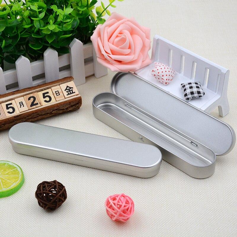 200pcs Plain silver tin pencil box, rectangle tea candy business card usb storage box case