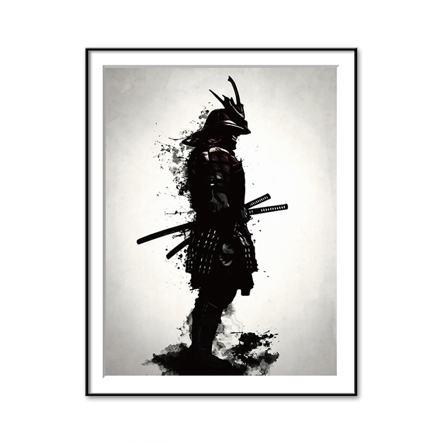 HTB1Lz8QbELrK1Rjy0Fjq6zYXFXar Japanese Samurai Canvas Oil Painting Modern Wall Art Pictures Canvas Print For Living Room HD Home Decoration Posters And Prints
