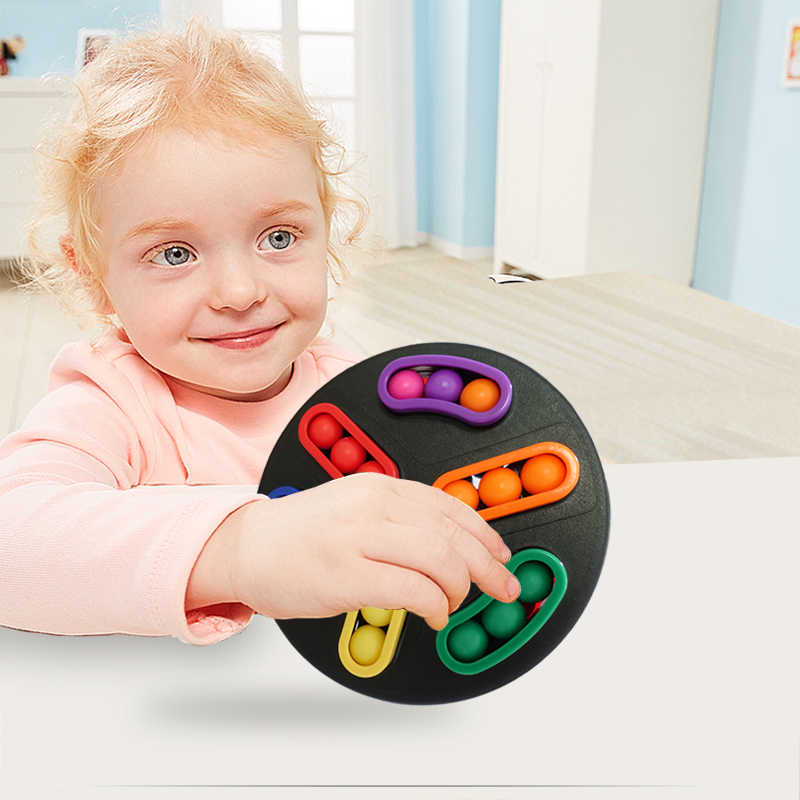 Disco giratorio juguetes educativos Montessori para niños entrenamiento del cerebro mejora el pensamiento lógico y las habilidades tácticas disco giratorio