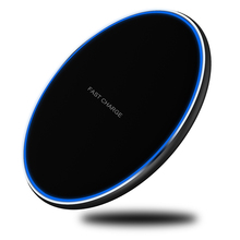 Fast QI Wireless Quick Charger 10W Charging for iPhone Samsung S8 S9 Plus Note 9 8 USB Phone Pad Induction