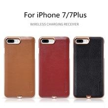 Nillkin 무선 충전기 수신기 케이스 iphone 7 7 plus qi 수신기 커버 전원 충전 송신기 전화 범퍼 백 케이스