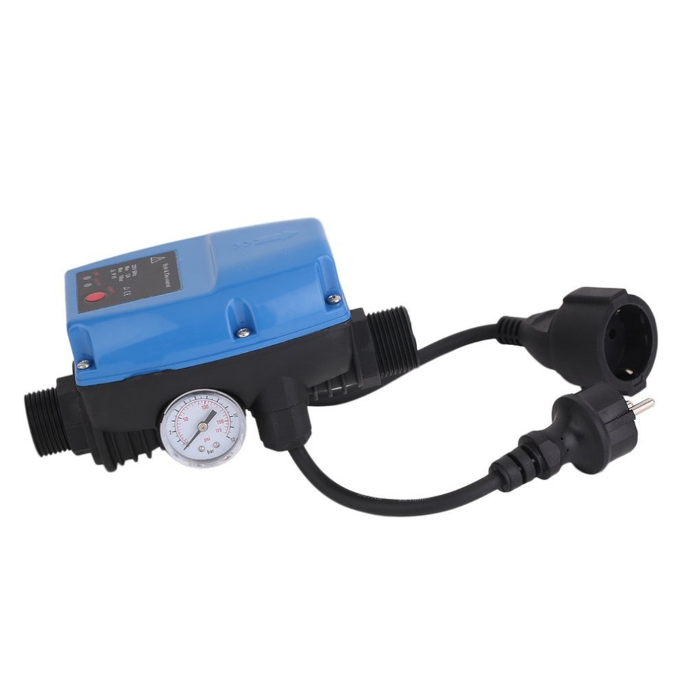где купить Water Pump Pressure Control Switch SKD-5MIT Pressure Controller Electronic Automatic with Pressure Gauge EU Plug по лучшей цене
