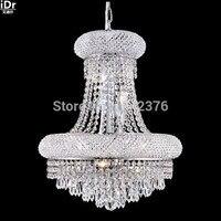 Современные подвесные светильники 5 огни купола корзины кристалл Открытый Подвесные Светильники в хромированной отделкой, D30cm x h48cm