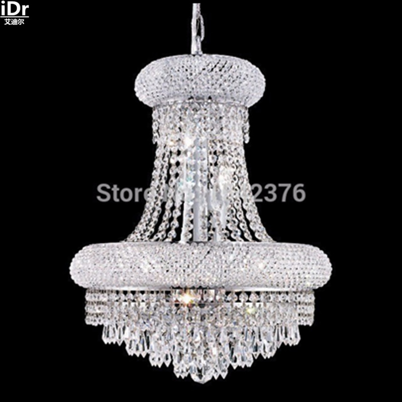 Modern Pendant lamps 5 Lights dome basket crystal Pendant Lights in chrome finish,D30cm  x H48cm