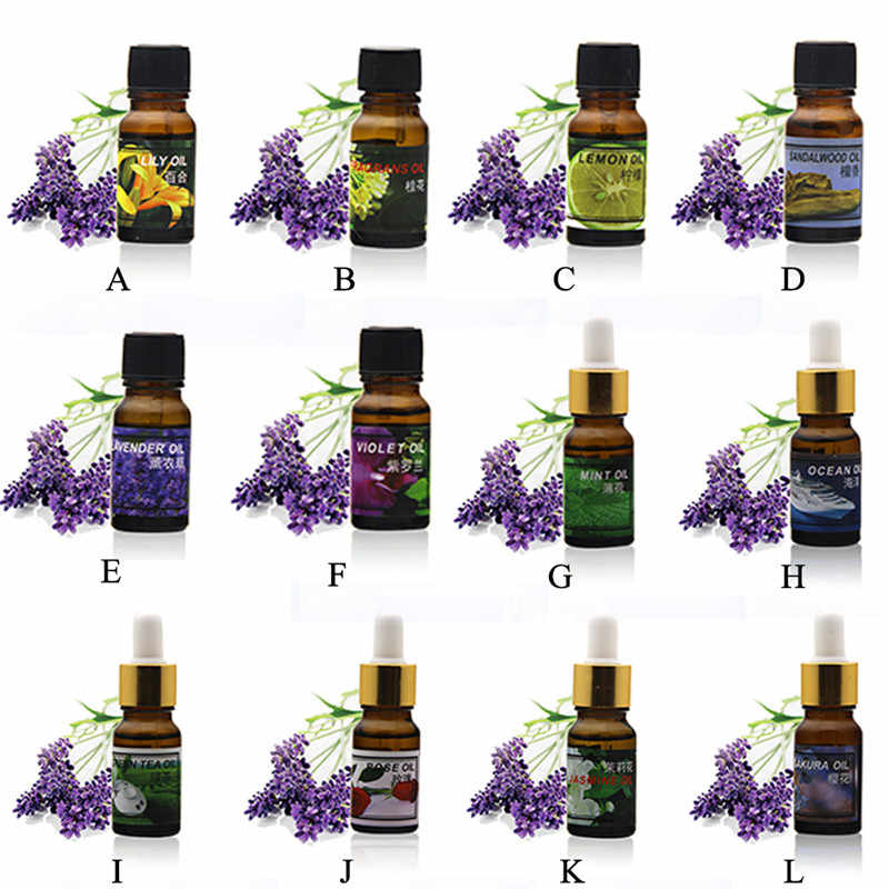 Huiles essentielles assainisseur d'air pour les maisons Aaroma Giffuser humidificateur aromathérapie huile soluble dans l'eau 12 sortes de jasmin de lys