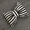 3pcs/lot bow striped black pillow doll baby appease the children's room decoration doll pillow 0619 sylvia