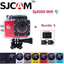 D'origine SJCAM SJ4000 WIFI 30 M Étanche Action Sports Caméra Sj 4000 Wifi Cam 1080 P Full HD DV + supplémentaire 2 Batterie + Chargeur Double