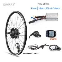 Kunray 48V 350W Electric Bike Kit 16 20 24 inch Front Motor Wheel electrica bicicleta Drive Motor Set KT LCD3 LED Pas Sensor DIY