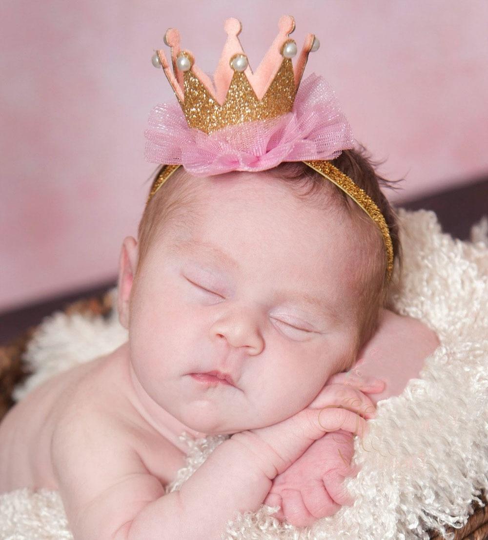 baby girl flower princess crown headband elastics headbands for newborns hair accessories kids hair head band