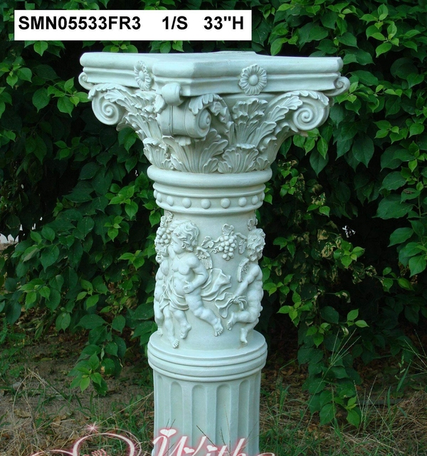 garden pedestal. European-style Home Accessories Ornaments Angel Sculpture Pedestal Relief Roman Villa Garden Decoration