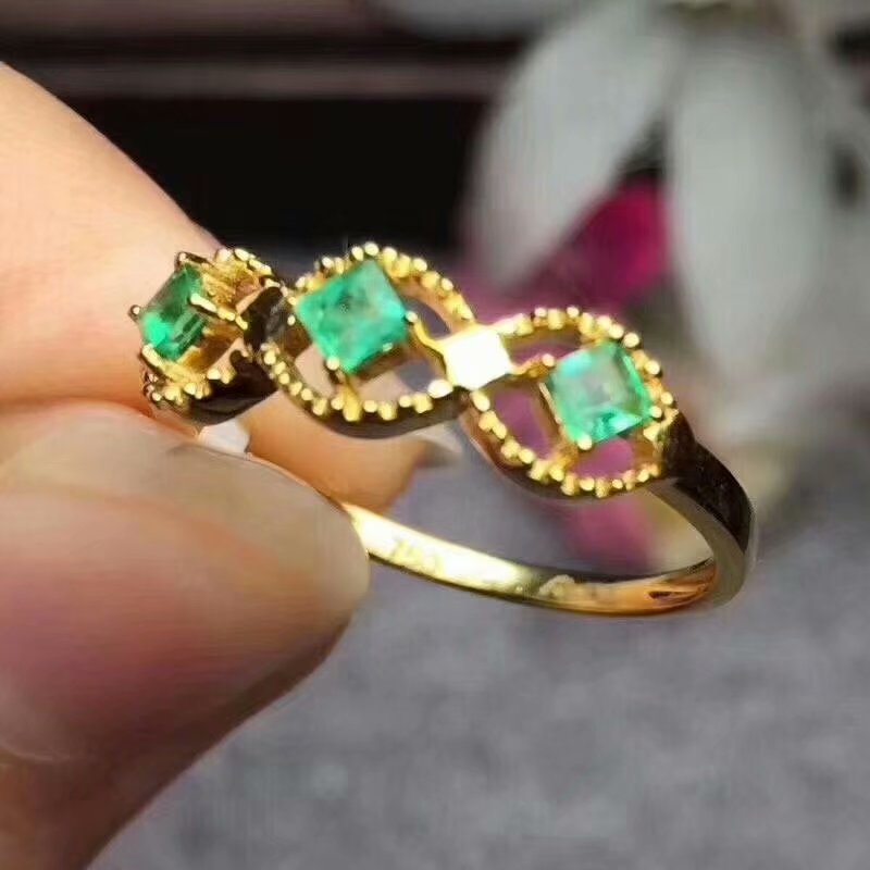 100% 925 sterling silver Natural green Emerald Rings fine Jewelry gift women wedding open wholesale new plant lpj030301agml100% 925 sterling silver Natural green Emerald Rings fine Jewelry gift women wedding open wholesale new plant lpj030301agml