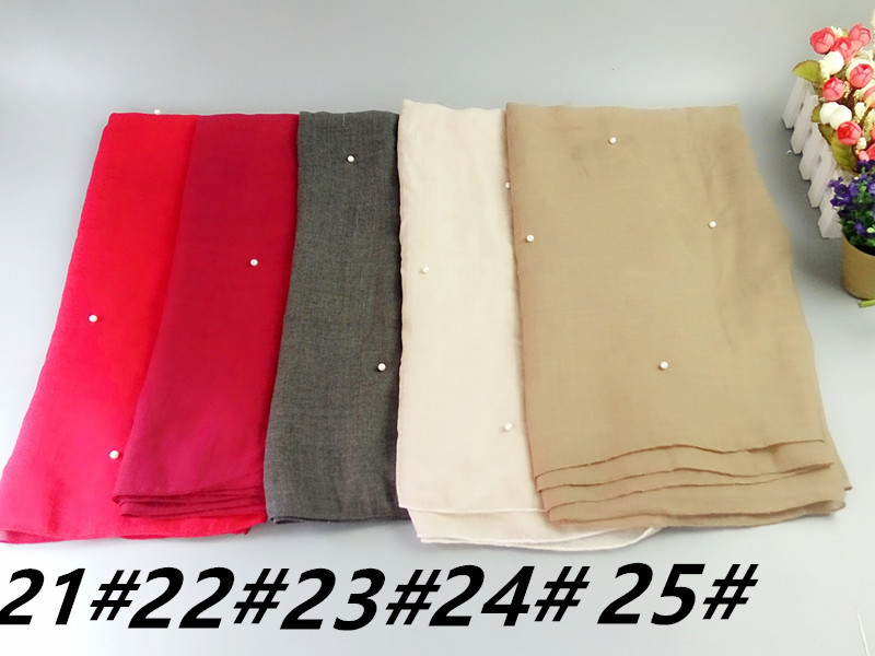 f5c4189a95 J9 New hot sale bead pearl bubble chiffon hijab wrap women scarf scarves  muslim shawl can ...