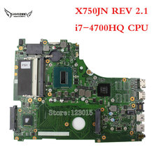 X750JN Laptop motherboard for ASUS with i7-4700HQ CPU GT840M Non-integrated DDR3 60NB6660-MB1110 100% tested