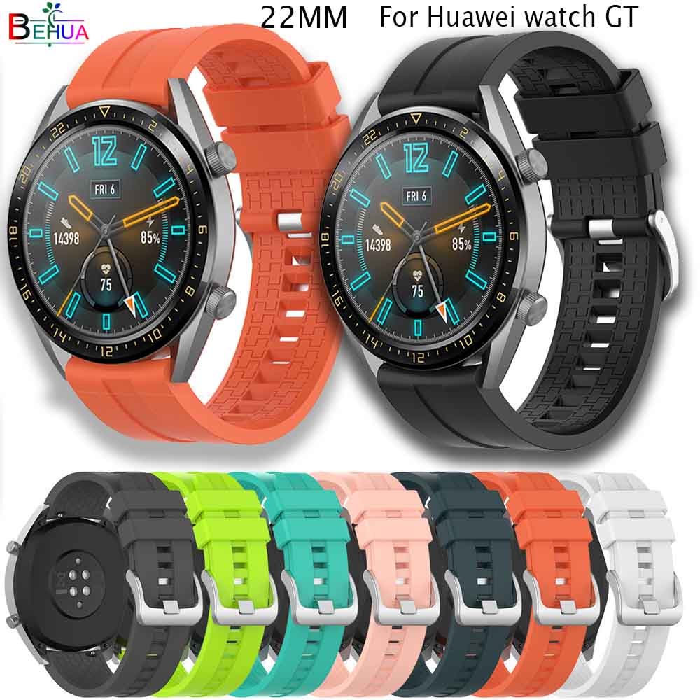 Sport Silicone 22mm Watchband For Huawei Watch GT 46mm/Active/gear S3/Honor Magic Smart Watch Replacement Wristband  Accessories